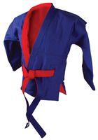 Куртка для самбо двухсторонняя AX55 (р. 32/130; красно-синяя)