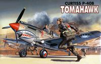 Самолет Curtiss P-40B Tomahawk (масштаб: 1/72)