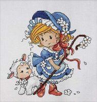 """Вышивка крестом """"Маленькая пастушка"""""""