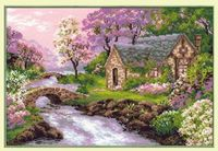 """Вышивка крестом """"Весенний пейзаж"""" (380х260 мм)"""