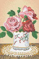 """Вышивка бисером """"Розы в вазе"""""""