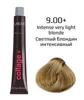 """Крем-краска для волос """"Collage+ Intense Creme Hair Color"""" (тон: 9/00+, светлый блондин интенсивный)"""
