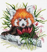 """Вышивка крестом """"Рыжая панда"""""""