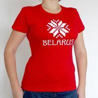 """Футболка женская """"Belarus"""" (L; красная)"""