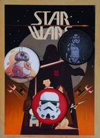 "Набор значков маленьких ""Star Wars"" (арт. 581)"