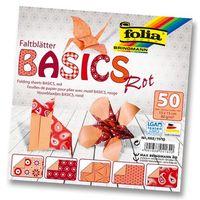 Бумага красная для оригами (150х150 мм; 50 листов)