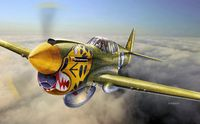"""Истребитель """"P-40 E/K - Kittyhawk"""" (масштаб: 1/48)"""