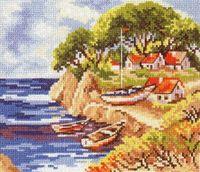 """Вышивка крестом """"Рыбацкий островок"""""""