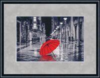 """Вышивка крестом """"Красный зонтик"""" (238х352 мм)"""