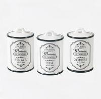 """Набор банок для сыпучих продуктов """"Paris Maison"""" (3 шт.)"""