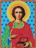 """Вышивка бисером """"Святой Великомученик Пантелеймон"""""""