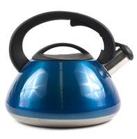 Чайник металлический со свистком (3 л; арт. GS-0415-Blue)