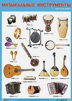 Развивающие плакаты. Музыкальные инструменты народов мира