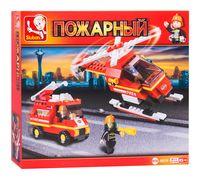 """Конструктор """"Пожарные спасатели. Пожарная техника с аксессуарами"""" (211 деталей)"""