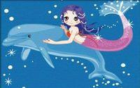 "Картина по номерам ""Дельфин и русалка"" (200x300 мм; арт. МС031)"