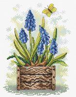 """Вышивка крестом """"Сапфировый цветок"""" (230х180 мм)"""