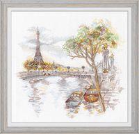"""Вышивка крестом """"Осень в Париже"""" (270х250 мм)"""