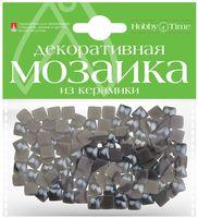 Мозаика декоративная из керамики №23 (8х8 мм; 100 шт.; серый)