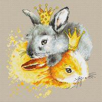 "Вышивка крестом ""Кролики"" (205х210 мм)"