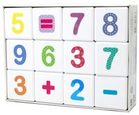 "Кубики ""Школа дошколят. Весёлая арифметика"" (12 шт.)"