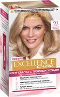 """Крем-краска для волос """"Excellence Creme"""" тон: 9.1, очень светло-русый пепельный"""