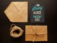 "Открытка ""I am Strong"" (art. 50)"