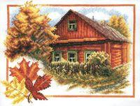 """Вышивка крестом """"Осень в деревне"""""""