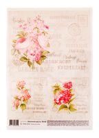 """Бумага для декупажа """"Винтажные цветы"""" (21х30 см)"""
