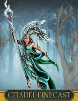 "Миниатюра ""Warhammer FB. Finecast: Wood Elf Spellweaver with Staff"" (92-61)"