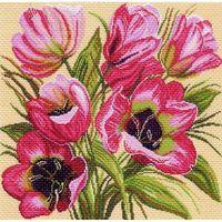 """Канва с нанесенным рисунком """"Тюльпаны"""" (арт. 1118)"""