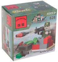 """Конструктор """"Combat Zones. Гранатометчик со стингером"""" (18 деталей)"""