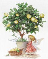 """Вышивка крестом """"Лимонная фея"""""""