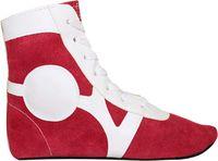 Обувь для самбо SM-0101 (р.36; замша; красная)