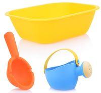 """Набор игрушек для купания """"Ванночка, лейка и ковшик"""" (3 шт.)"""