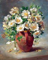 """Картина по номерам """"Белые цветы в кувшине"""" (400х500 мм)"""