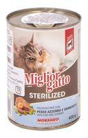 """Консервы для стерилизованных кошек """"Gatto"""" (400 г; рыба и креветки)"""
