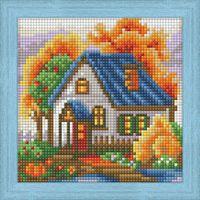 "Алмазная вышивка-мозаика ""Осенний домик"" (150х150 мм)"