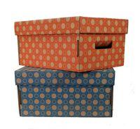 """Набор коробок """"Kardeco"""" (2 шт.; красная и синяя)"""