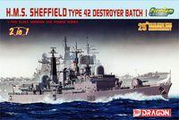 """Эсминец """"H.M.S. Sheffield Type 42 Destroyer Batch 1"""" (масштаб: 1/700)"""