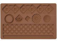 """Мат (молд) кондитерский для нанесения рисунка на мастику """"Макраме"""" (арт. WLT-409-2549)"""