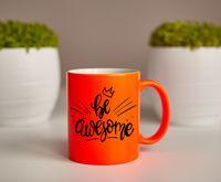 """Кружка """"Be awesome!"""" (оранжевая)"""