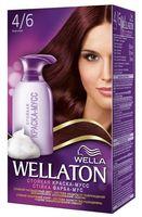 "Краска-мусс для волос ""Wellaton"" (тон: 4/6, Бургундия)"