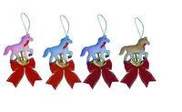 """Новогоднее украшение """"Лошадь с бантом"""""""