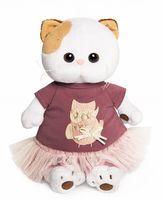 """Мягкая игрушка """"Кошечка Ли-Ли в платье с совой"""" (24 см)"""