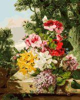 "Картина по номерам ""Цветы в корзинке"" (400х500 мм)"