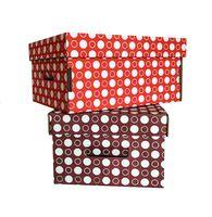 """Набор коробок """"Kardeco. Круги"""" (2 шт.; красная и коричневая)"""