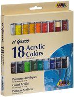 """Набор глянцевых акриловых красок """"El Greco"""" (18 цветов х 12 мл)"""
