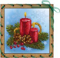 """Вышивка крестом """"Праздничные свечи"""""""