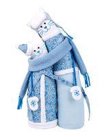 """Набор для шитья из ткани """"Коты-обнимашки. Зимние"""""""