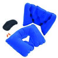 Дорожный набор для сна (4 предмета; синий)